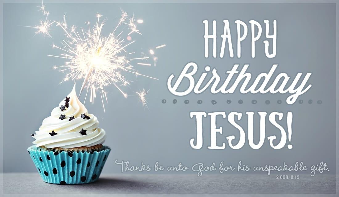 Happy Birthday Jesus ecard, online card