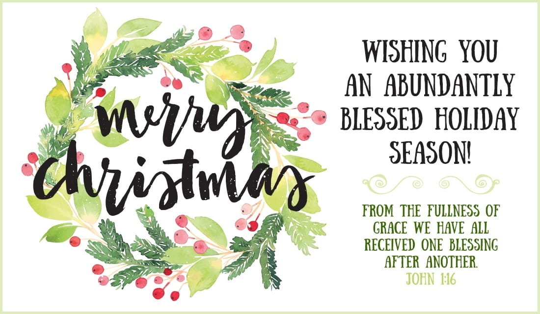 Merry Christmas - Abundantly Blessed eCard - Free Christmas Cards Online
