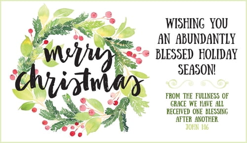 Merry Christmas - Abundantly Blessed eCard - Free ...