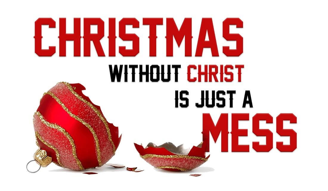 Christmas - Christ = MESS!  ecard, online card