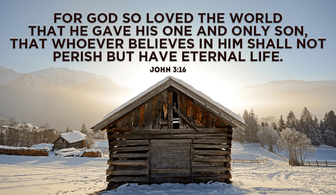 What is your favorite Christmas-related Bible verse? - John 3:16 ecard, online card