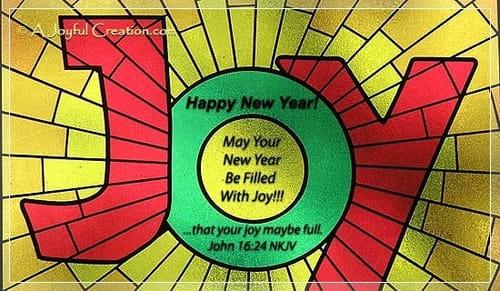 New Year - Joy ecard, online card