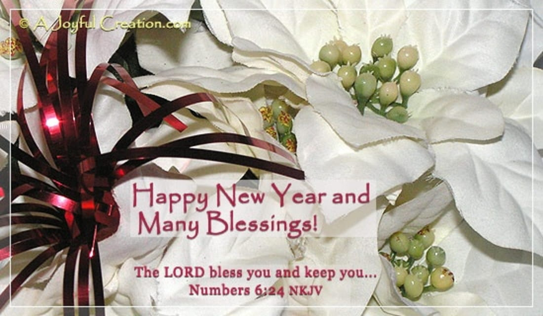 New Year - Many Blessings ecard, online card