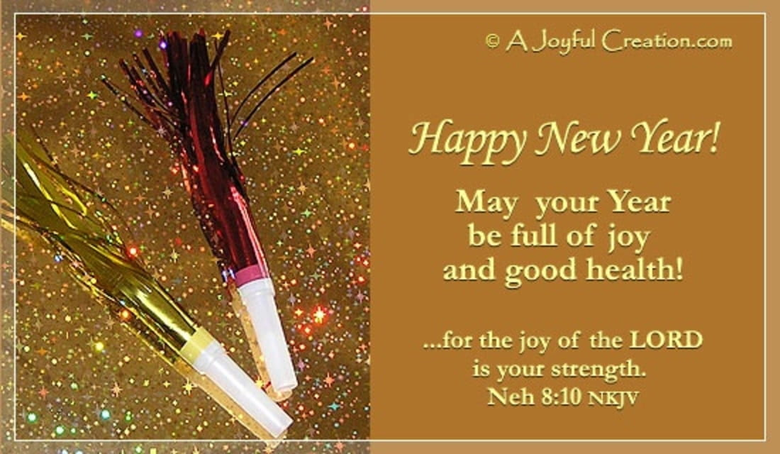 New Year - Joy ecard, online card
