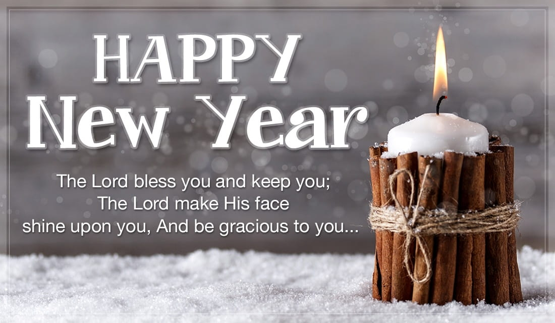 happy new year candle ecard online card