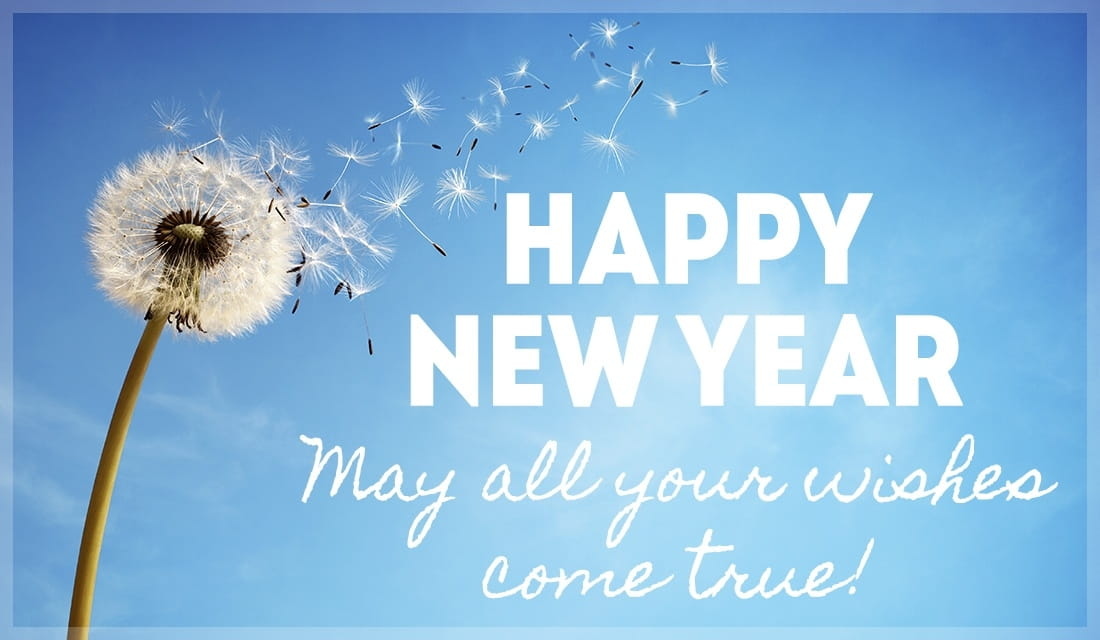 new year wishes come true ecard online card