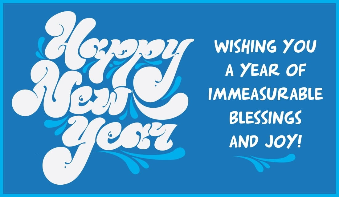 New Year - Immeasurable Blessings ecard, online card