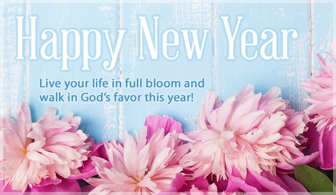 New Year - Full Bloom ecard, online card
