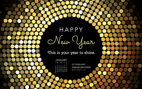 January 2016 - Year to Shine mobile phone wallpaper