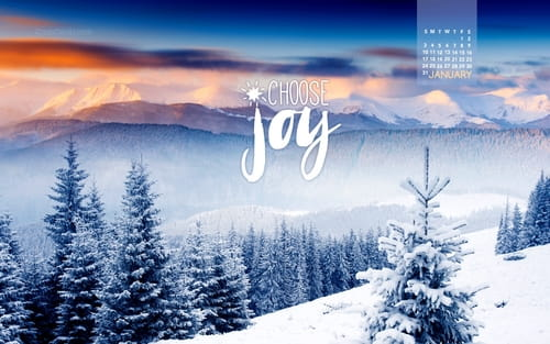 January 2016 - Choose Joy mobile phone wallpaper
