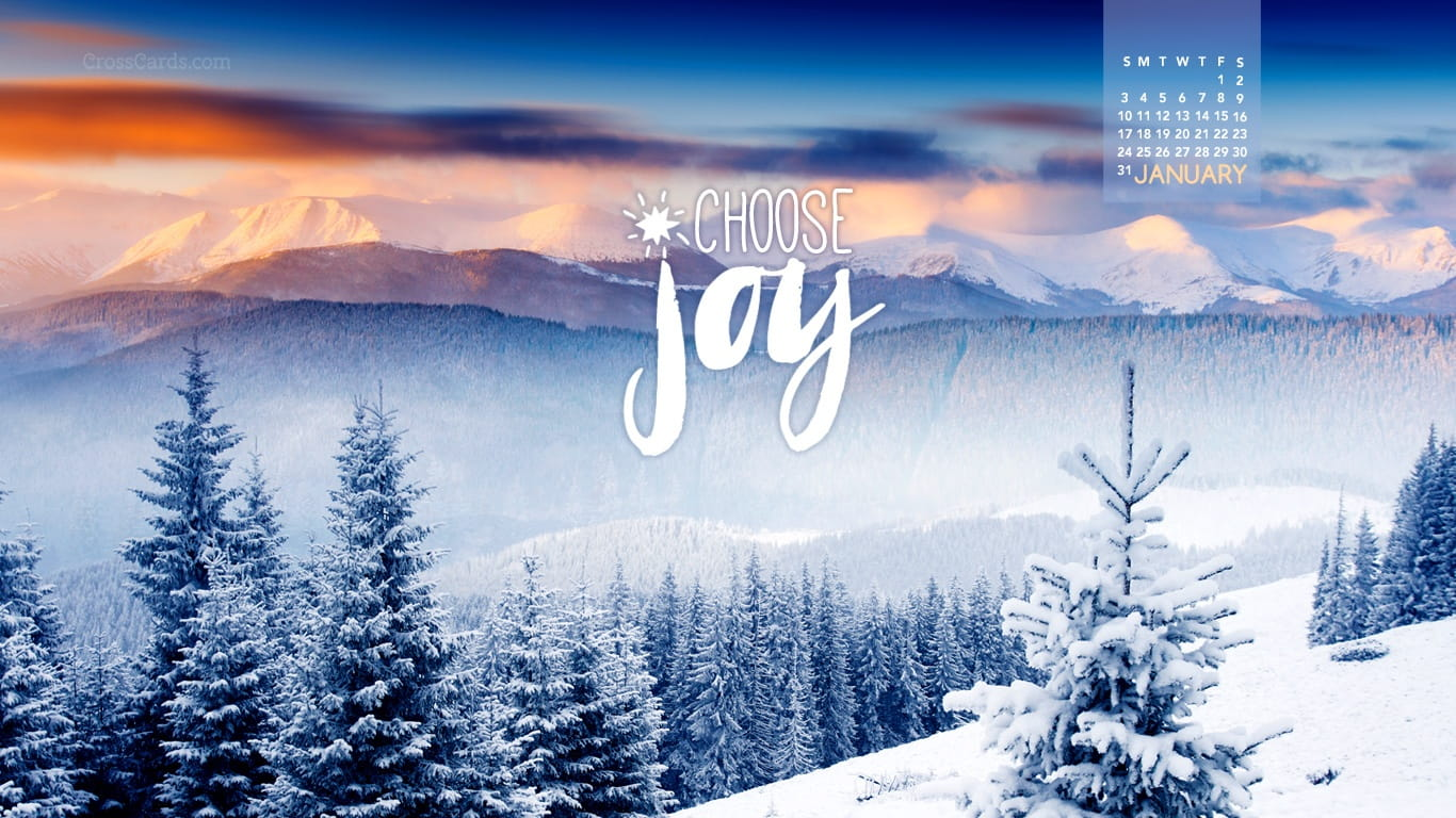 January 2016 choose joy desktop calendar free january - Crosscards christian wallpaper ...