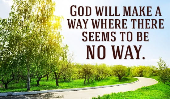 God WILL make a way! ecard, online card