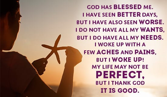 How has God Blessed you? ecard, online card