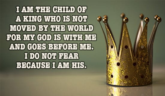 I am a Child of THE KING! ecard, online card