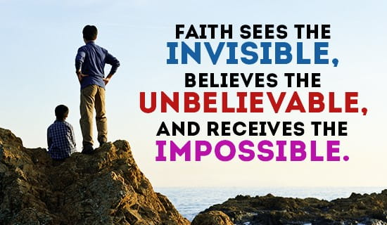 I have FAITH in my God! ecard, online card