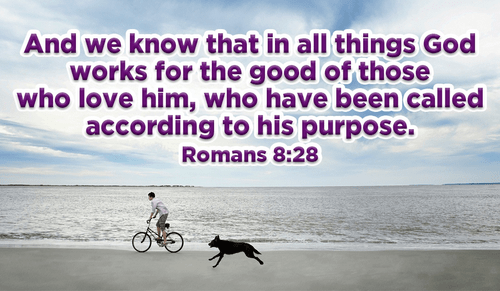 god wants the best for his people  - romans 8 28 ecard