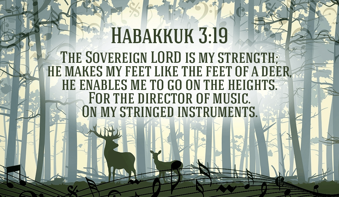 He will put joy in your heart, and energy in your feet! - Habakkuk 3:19 ecard, online card