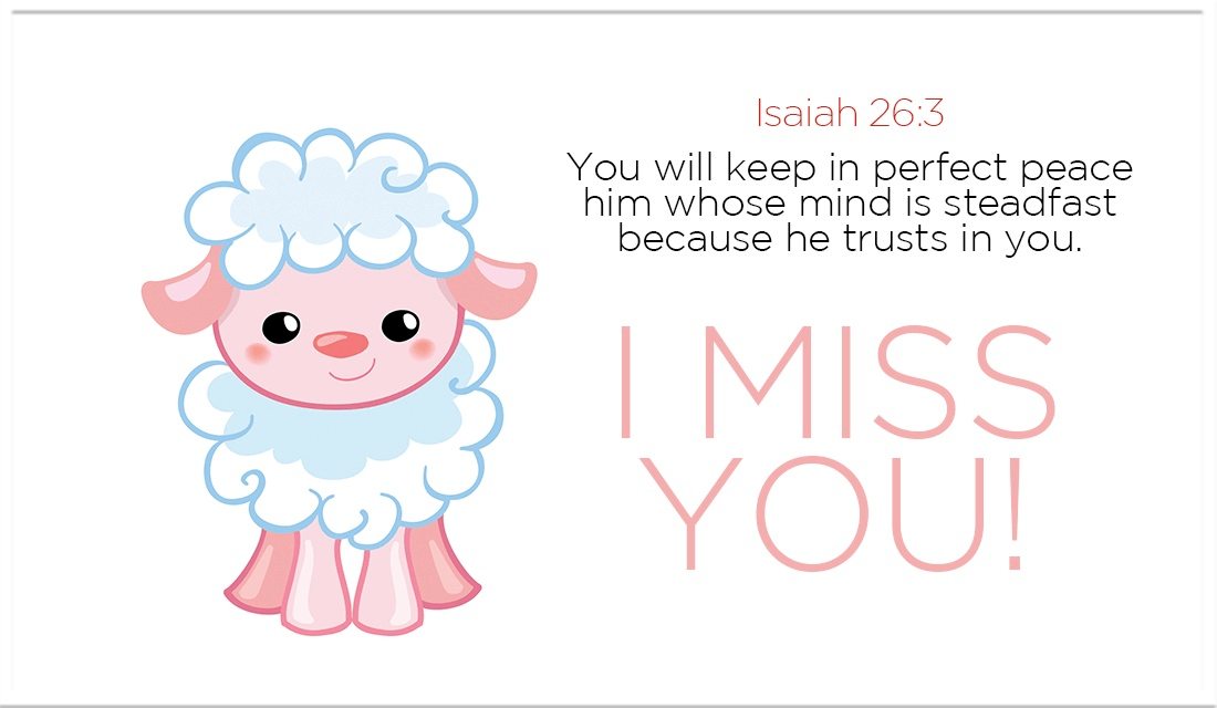 Send this to someone you've been missing! - Isaiah 26:3 ecard, online card