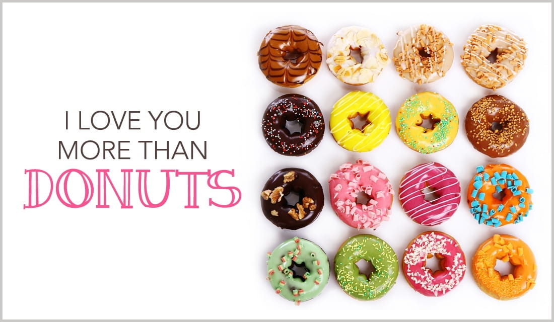I Love You More Than Donuts ecard, online card