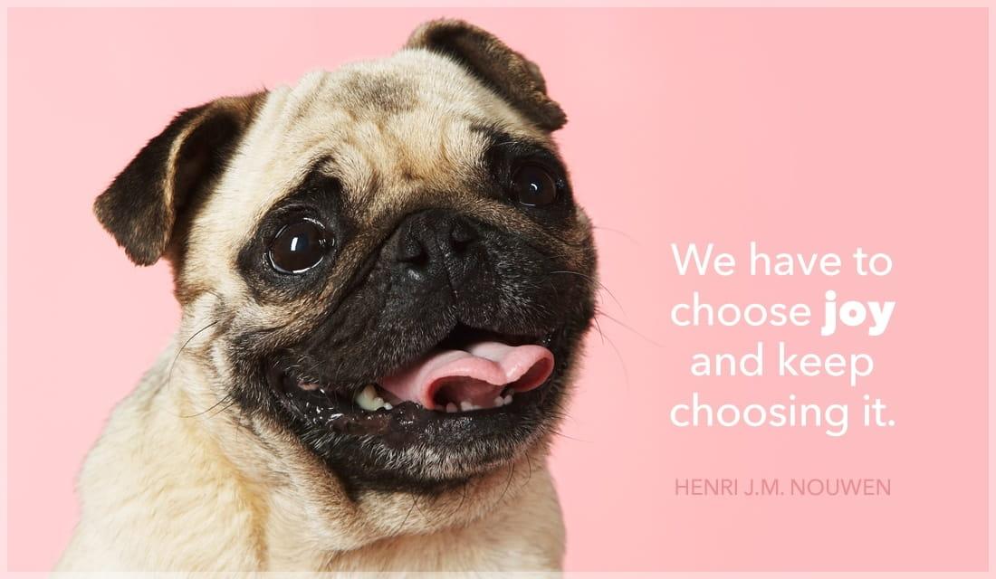 We Have to Choose Joy and Keep Choosing it. ecard, online card