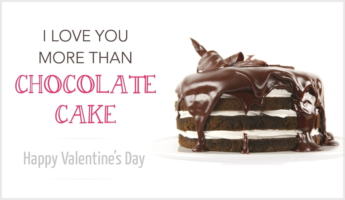 More Than Chocolate Cake ecard, online card