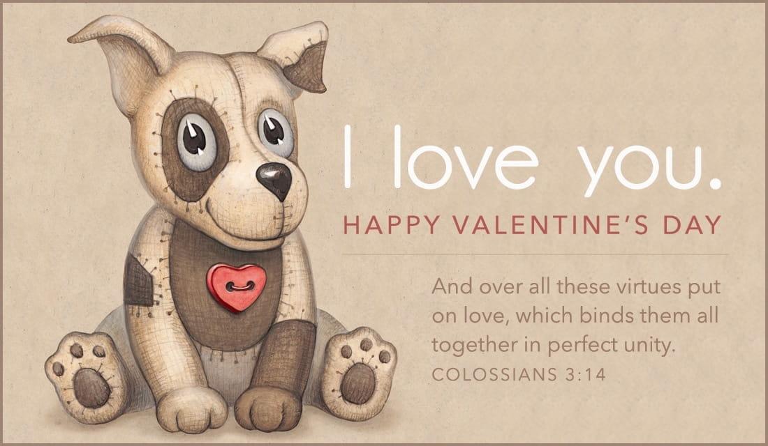 Puppy Love Col. 3:14 NIV ecard, online card