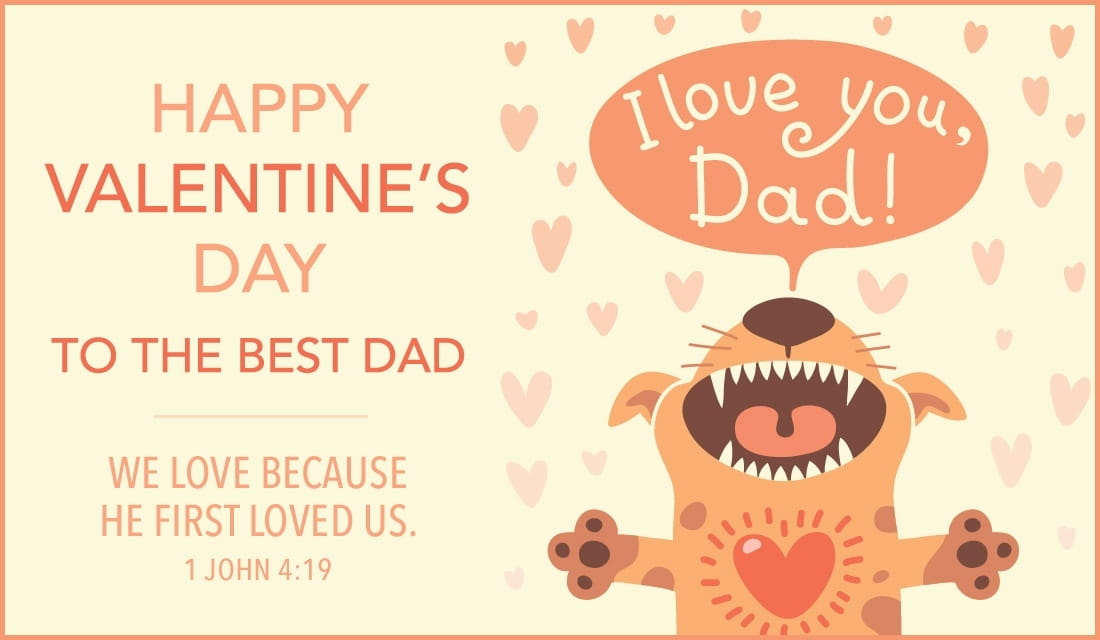 happy valentines day dad ecard online card