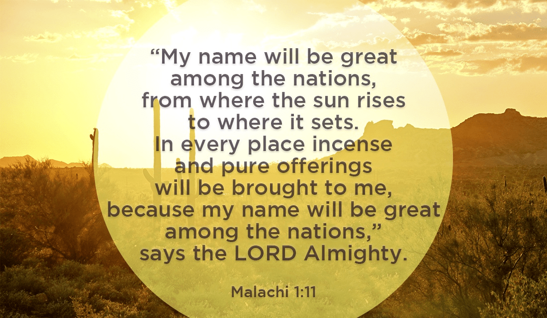 His Name is Great! Now let's spread it! - Malachi 1:11 ecard, online card