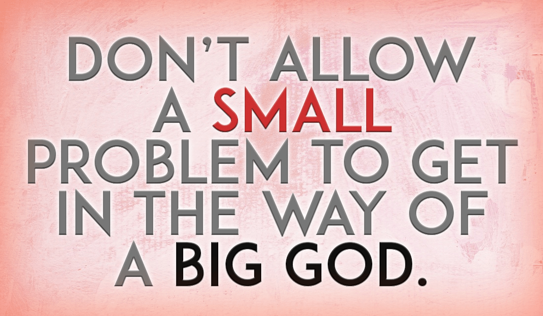 Often, the only thing stopping God from the miraculous is people getting in the way of His works! ecard, online card