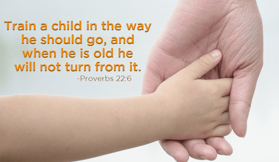 A child's parentage affects many things, take care when raising them. :) - Proverbs 22:6 ecard, online card