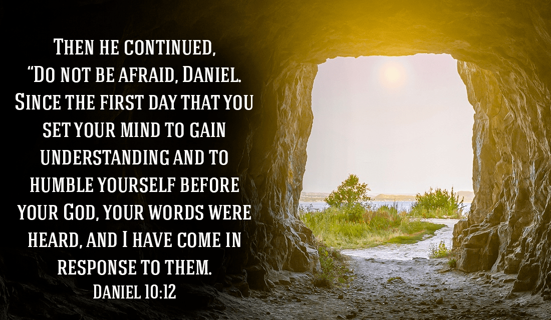 Do not be AFRAID! - Daniel 10:12 ecard, online card