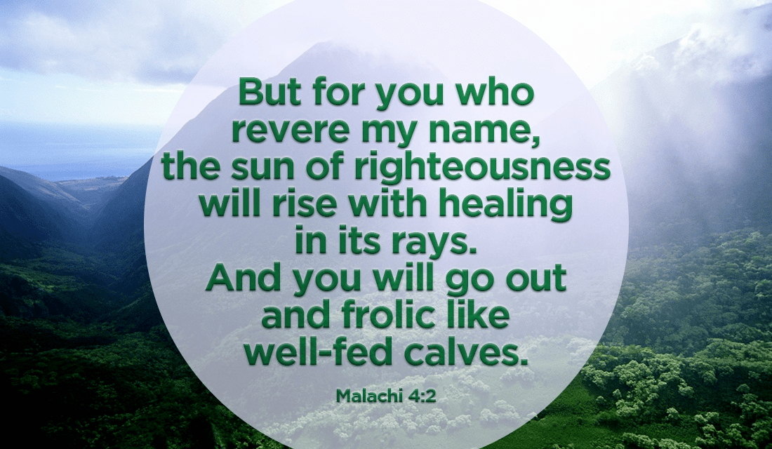 Through His name and His righteousness, we are healed! ecard, online card