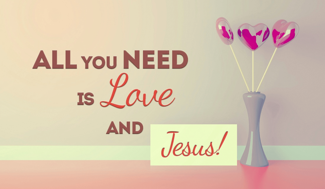 Luckily, with Jesus comes LOVE! ecard, online card