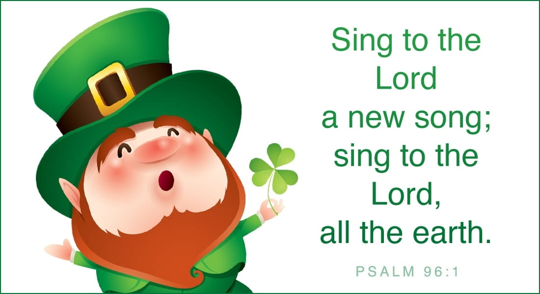 St. Patrick's Day - Sing to the Lord a New Song ecard, online card