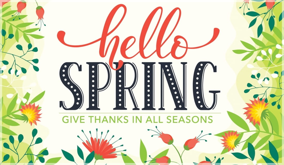 Give Thank in All Seasons ecard, online card