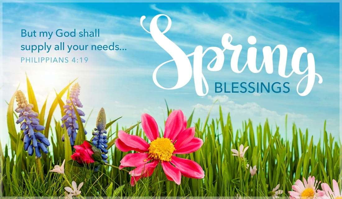 Spring Blessings - Philippians 4:19 ecard, online card