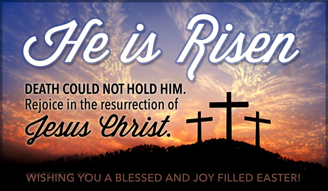 He is Risen ecard, online card