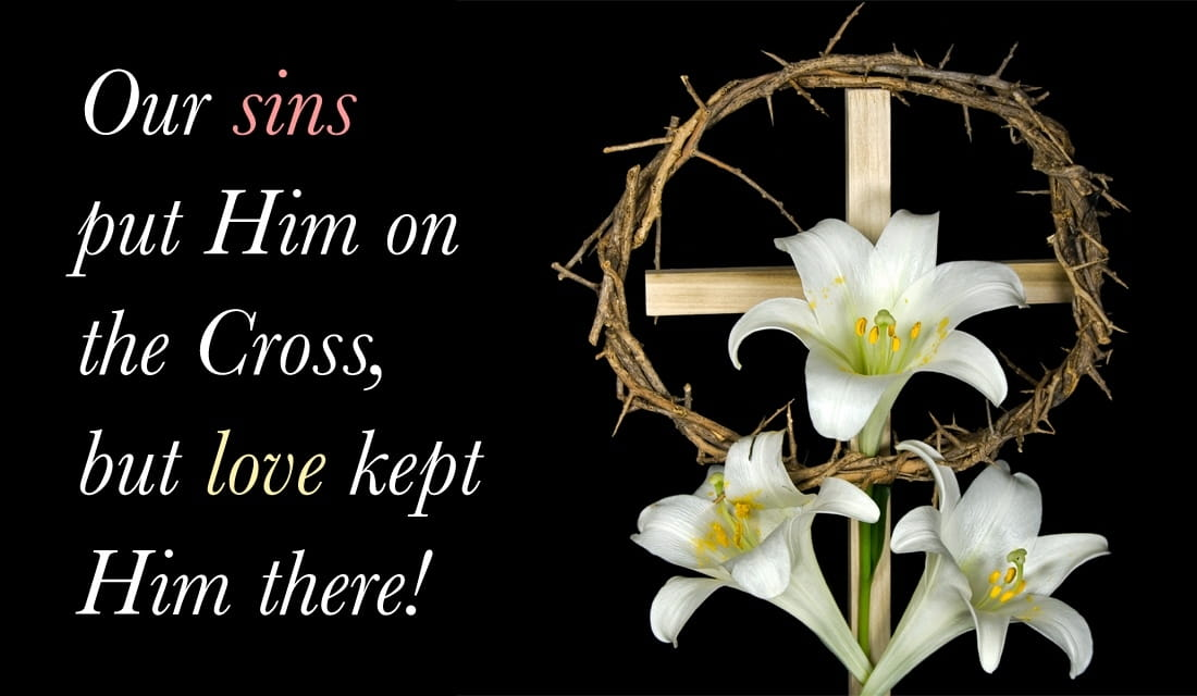 Love Kept Him on the Cross ecard, online card
