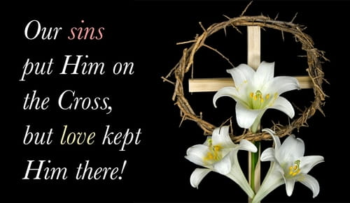 Free christian easter ecards beautiful online greeting cards love kept him on the cross m4hsunfo