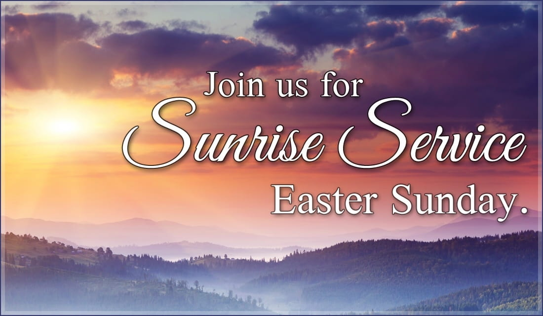 Sunrise Service Invite ecard, online card