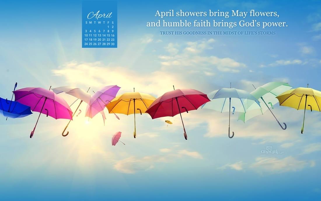 April 2016 - God's Power mobile phone wallpaper
