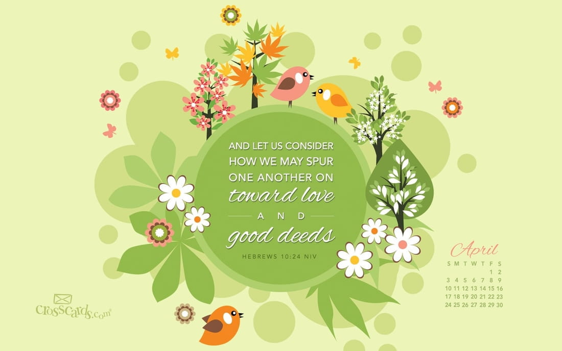April 2016 - Good Deeds mobile phone wallpaper