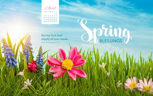 April 2016 - Spring Blessings mobile phone wallpaper
