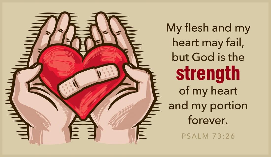 Psalm 73:26 - Heart May Fail ecard, online card