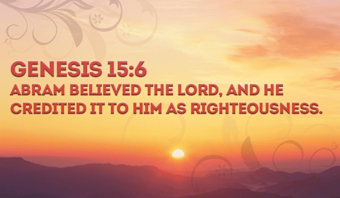Follow in Abrams steps, BELIEVE! - Genesis 15:6 ecard, online card
