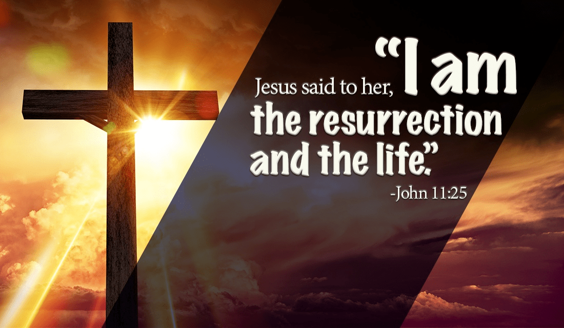 I am thankful every day for His great sacrifice! - John 11:25 ecard, online card