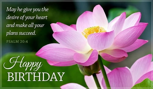 Free Happy Birthday Psalm 20 4 Ecard Email Free