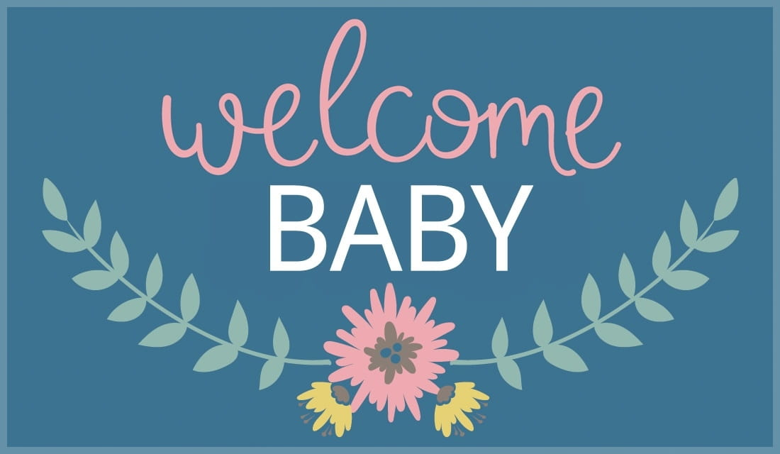Welcome Baby ecard, online card