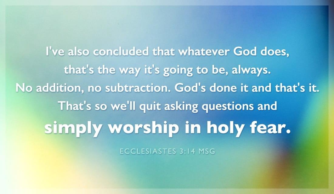 Ecclesiastes 3:14 MSG ecard, online card