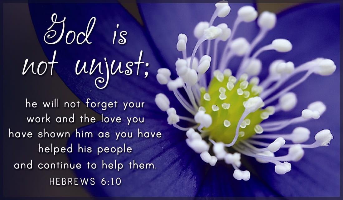 God is Not Unjust ecard, online card